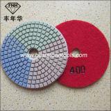 Almofada flexível da pedra do diamante da almofada de polonês Wd-6 3c