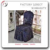 Couverture chinoise de chaise d'approvisionnement de fabricant de tissu jaune (YT-06)