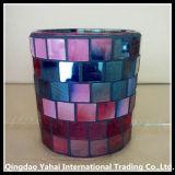 着色されたガラスモザイク蝋燭ホールダー