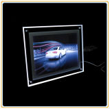 A4 Crystal Frame Slim Crystal LED Light Box pour Décoration