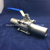 Шариковый клапан конца Ss3PC сварное соединение встык с выдвинутой трубой