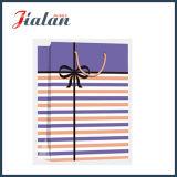 Glatte lamellierte Kunstdruckpapier-Streifen u. Bowknot-Einkaufen-Geschenk-Papierbeutel