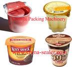 Remplissage de tasse de sauce et machine automatiques de cachetage