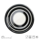 Jeu de dîner en céramique de cercle noir