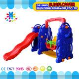 屋外の運動場--象の子供のおもちゃの幼稚園の柔らかいプラスチックスライドの運動場(XYH12065-2)