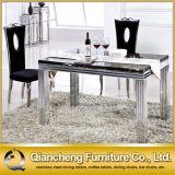 Нержавеющая сталь мебели комнаты в реальном маштабе времени C095# самомоднейшая обедая стул