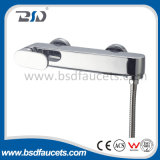 Faucet pesado de bronze do chuveiro do misturador do banho punho chinês do cromo do único