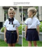 Usura di estate del vestito dell'uniforme scolastico della pupilla del manicotto di Short di buona qualità
