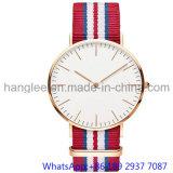 De Nylon Band Japan Movet van het Horloge van het Kwarts van het Roestvrij staal van de hoogste-kwaliteit voor Man 15201