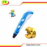Le crayon lecteur bleu de l'imprimante 3D badine des crayons lecteurs de coloration