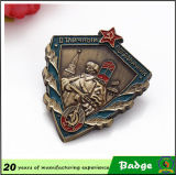 Huahui Manufacturer Metal Antique Brass Military Badge per Souvenir