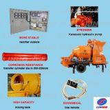 450L Concrete Mixer Pump com Four Wheels Diesel Engine Price