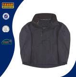 Куртка дождя покрытия PU Taslon черного полиэфира водоустойчивая