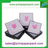 Коробка ювелирных изделий подарка празднества картона высокого качества черная