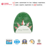 Natale Circle Triangle Shaped Tin Box per Candy Packaging (T003-V4)