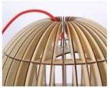 Lampe pendante en bois moderne élégante de DEL
