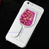 Het kleurrijke Quick-Sand Geval van de Telefoon van het Glas Mobiele met/zonder Houder voor iPhone 5g/6g