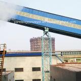 Sistema de transporte do cimento do transporte de correia da inclinação de China/equipamento ascendentes do transtorte