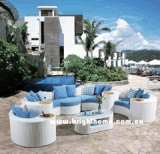 新しいデザインソファーの一定の柳細工の屋外の庭の家具Bp873c