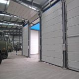Белый застекленный двойник цвета сползающ секционную надземную дверь (HF-1025)