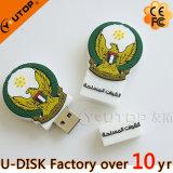 Movimentação instantânea da pena do USB do PVC 3D USB2.0/3.0 do logotipo feito sob encomenda relativo à promoção do presente 2D