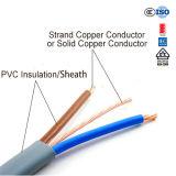 Afrikanischer elektrischer Kabel-flach Zwilling des Draht-2+E und Massen-Draht