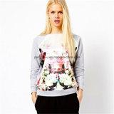 긴 소매 Hoodie 스웨터 숙녀 착용을 인쇄해 형식 여자