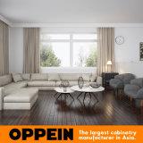 現代卸し売り白い木製の穀物の別荘のホーム台所家具(OP16-Villa02)