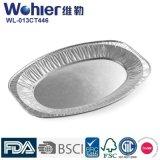 Размер 45 серебра подноса алюминиевой фольги кухни домочадца глубокий - толщина 70mic