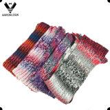Bufanda de acrílico colorida de moda del tinte del espacio del hilado de Islandia