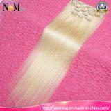 """Het vrije Verschepende Braziliaanse Haar van 613 Blonde rechtstreeks de Menselijke Klem van Blonde 12 """" - 30 """" in de Uitbreidingen van het Haar 7PCS/Set 120g"""