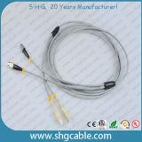 Cabo de correção de programa blindado frente e verso do cabo da fibra óptica do FC-Sc milímetro