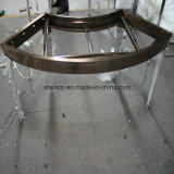De Showcase van de Juwelen van het Roestvrij staal van het glas met LEIDEN Verlichting en Slot