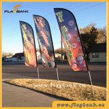 bandeira do vôo da impressão de Digitas da fibra de vidro do Tradeshow de 3.9m/bandeira da pena