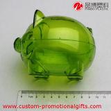 Rectángulo de dinero transparente plástico de la manera del cerdo del regalo de la promoción