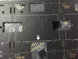 PWB mate de múltiples capas del negro con '' oro 2u plateado para la comunicación