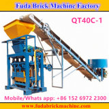 Linha de produção Semi automática simples pequena máquina do bloco de cimento Qt40c-1