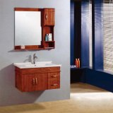 Alta qualità Wall Mounted Wood Bathroom Cabinet con Side Cabinet