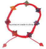 Bracelete frisado da jóia da forma de Merkaba de Gemstone de cristal natural