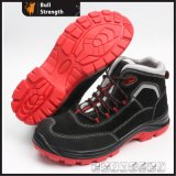 Chaussure de sûreté de cuir de suède de PU/TPU Outsole avec tep composée (SN5433)