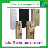 Bolsa de papel de Kraft con la maneta del algodón