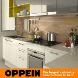 Oppein Modern Wooden Kitchen Cabinet com Visual Contrast Acrylic Finish (OP15-A06)