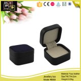Caixa de jóia pequena de couro luxuosa preta (8069)