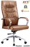 Silla de madera del brazo del encargado del cuero del hotel de los muebles de oficinas (A2009)