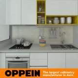 De Moderne Witte Acryl Kleine Houten Keukenkasten van Birma (OP15-A02)