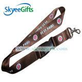 Acollador marrón con el sostenedor de Keychain