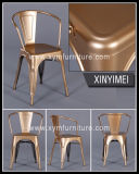 Металл коммерчески напольной крытой мебели столовой сбор винограда промышленной деревенский французский обедая стулы