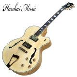 Musique de Hanhai/guitare électrique Semi-Creuse avec la couleur initiale (type L5)