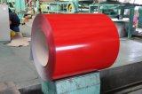 Bobine en acier enduite d'une première couche de peinture (rouge, bleu, vert, blanc, tout populaire