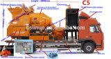 Camion puissant mobile de pompe de mélangeur concret de machines de construction